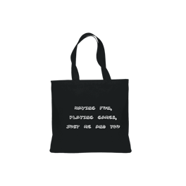 Canvas Tote with Song Lyrics and Logo